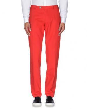 Повседневные брюки BERWICH. Цвет: красный