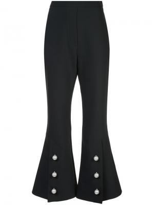 Расклешенные брюки с разрезами и пуговицами снизу Ellery. Цвет: чёрный