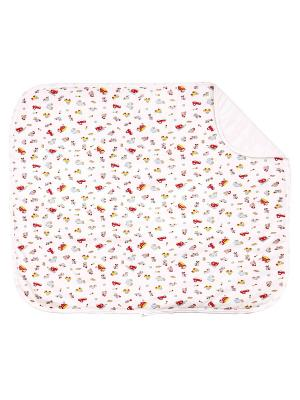 Одеяло трикотажное 75х90 Машинки DAISY. Цвет: голубой, красный, желтый, белый