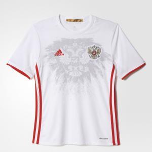 Выездная игровая футболка сборной России (реплика)  Performance adidas. Цвет: красный
