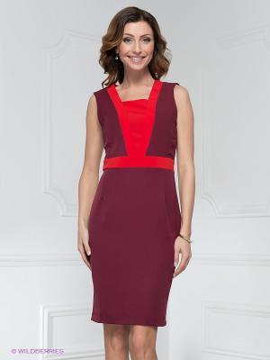 Платье LuAnn. Цвет: темно-бордовый, красный
