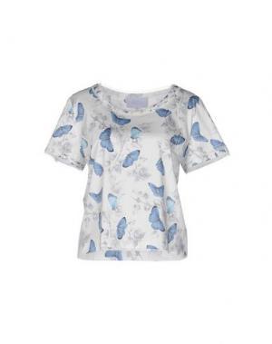 Блузка LUISA BECCARIA. Цвет: белый