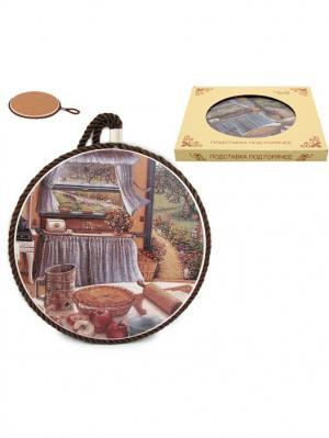 Подставка под горячее Яблочный пирог Elan Gallery. Цвет: коричневый