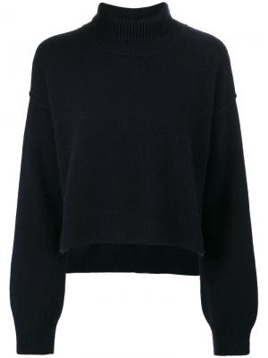 Cropped turtleneck jumper Rejina Pyo. Цвет: синий