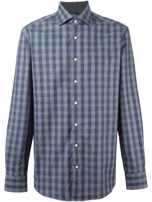 Рубашка в клетку Mayfair Navy Check Hackett. Цвет: синий