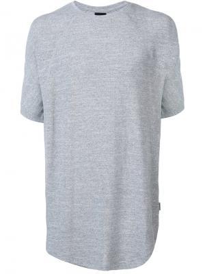 Удлиненная футболка Publish. Цвет: серый