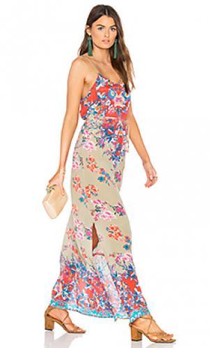 Платье naomi Tolani. Цвет: коралл