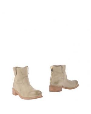 Полусапоги и высокие ботинки KALLISTÈ. Цвет: бежевый