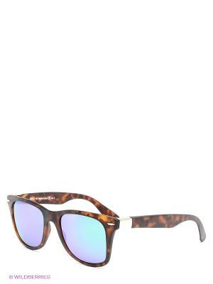 Солнцезащитные очки Franco Sordelli. Цвет: коричневый, синий, зеленый