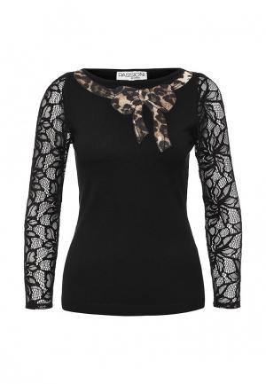 Блуза Passioni. Цвет: черный