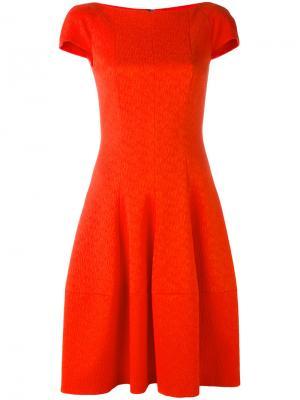 Расклешенное платье Talbot Runhof. Цвет: красный