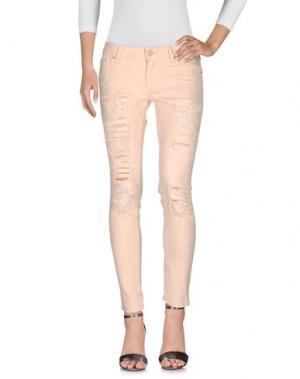 Джинсовые брюки DON'T CRY. Цвет: розовый