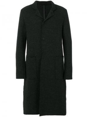 Приталенное классическое пальто Poème Bohémien. Цвет: серый