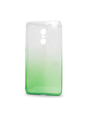 Крышка задняя для xiaomi redmi note 4 силикон IQ Format. Цвет: зеленый