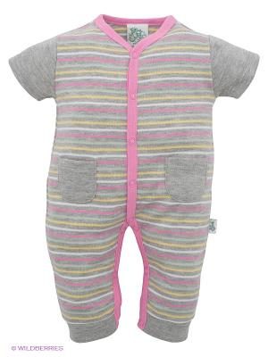 Комбинезон FS Confeccoes. Цвет: серый меланж, розовый, желтый