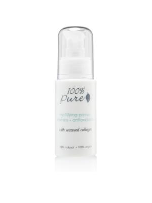 Основа под макияж: Матирующий праймер (с морскими водорослями и эвкалиптом) 100% Pure. Цвет: белый