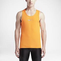 Мужская майка для бега  Dri-FIT AeroReact Nike. Цвет: оранжевый