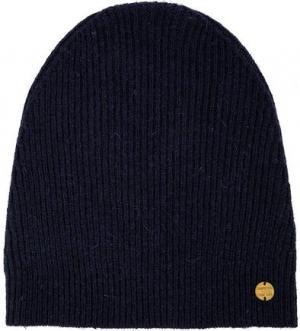 Синяя вязаная шапка с высоким содержанием шерсти Scotch&Soda. Цвет: синий