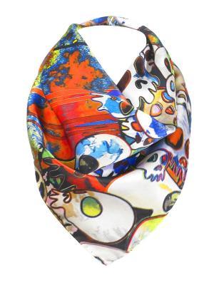 Платок Rob-art by Katya Rozhdestvenskaya. Цвет: белый, черный, оранжевый