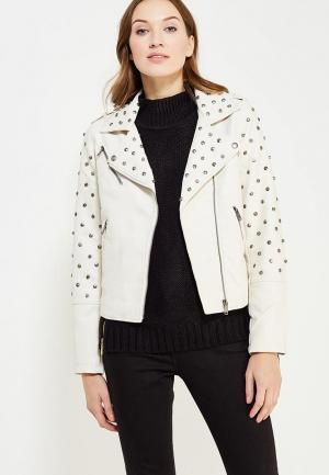 Куртка кожаная Glamorous. Цвет: белый
