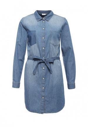 Платье Jacqueline de Yong. Цвет: синий