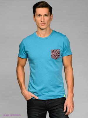 Футболка Bramante. Цвет: голубой