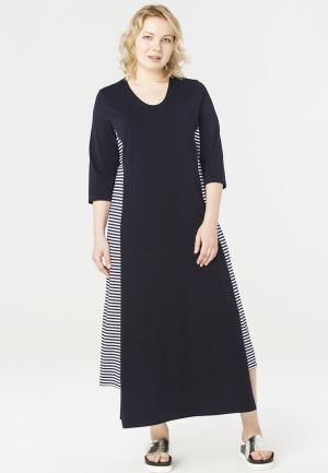 Платье Lessismore. Цвет: синий