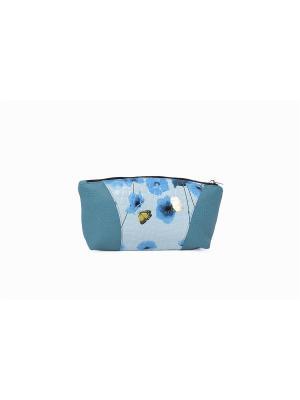 Косметичка CAGIA. Цвет: голубой