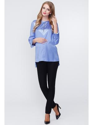 Блуза TUTTA MAMA. Цвет: голубой