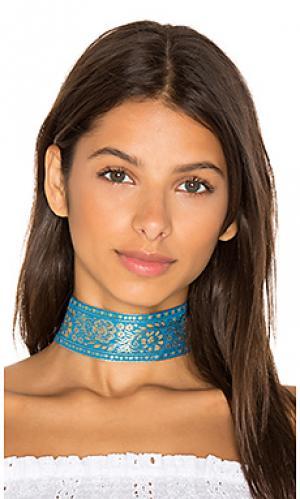 Чокер marari Natalie B Jewelry. Цвет: синий