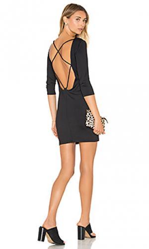 Платье с рукавом 3/4 David Lerner. Цвет: черный
