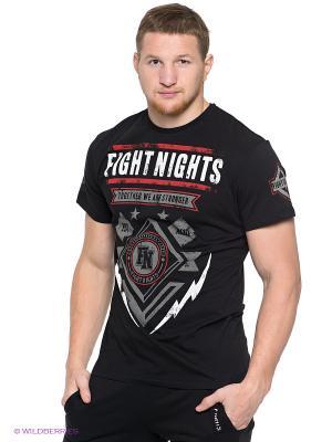 Футболка Молния Fight Nights. Цвет: черный