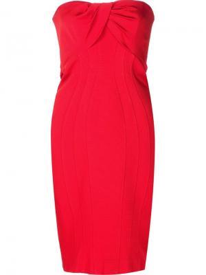 Платье Loretta Zac Posen. Цвет: красный