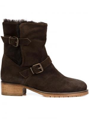 Ботинки с ремешком на пряжке Chuckies New York. Цвет: коричневый