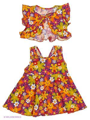 Комплект одежды Три ползунка. Цвет: бордовый