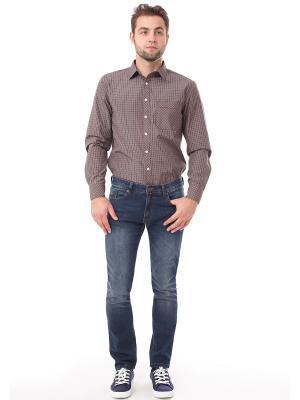 Рубашка F5. Цвет: коричневый, синий