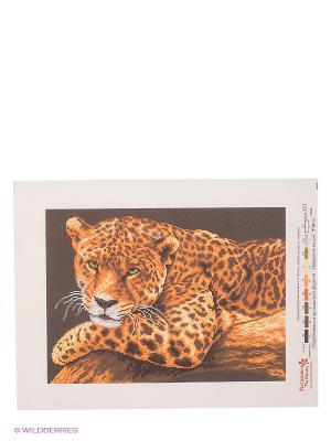 Рисунок на канве Ягуар Матренин Посад. Цвет: коричневый