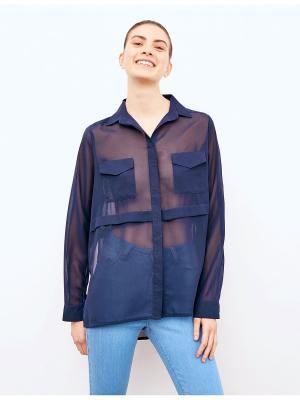 Блузка Jennyfer. Цвет: синий