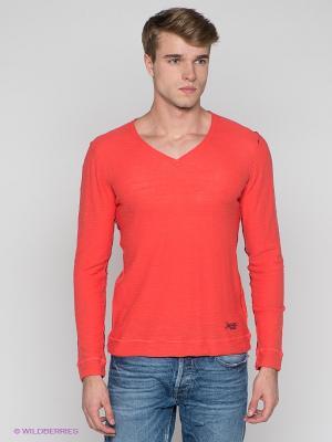 Пуловер Japan Rags. Цвет: коралловый