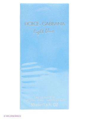 Туалетная вода Light Blue, 50мл. DOLCE & GABBANA. Цвет: голубой