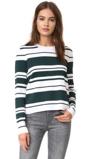 Пуловер Sculpture с округлым вырезом FRAME. Цвет: spruce & blanc sculpture strip