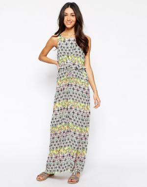 Meghan Fabulous Платье макси Ubud. Цвет: мульти