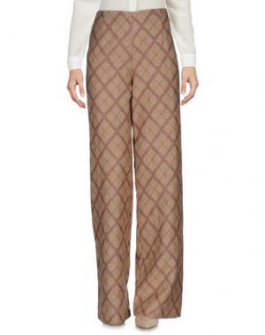 Повседневные брюки LAVINIATURRA. Цвет: песочный
