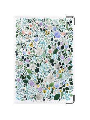 Обложка для паспорта Flora Tina Bolotina. Цвет: зеленый, бирюзовый, белый