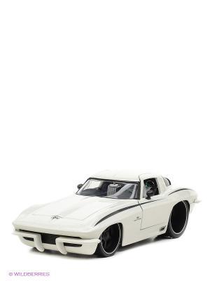 Модель автомобиля 1963 Corvette Stingray Centennial 1:18 Jada. Цвет: белый