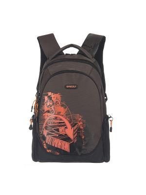 Рюкзак Grizzly. Цвет: коричневый, красный