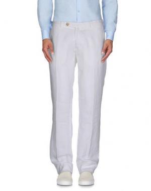 Повседневные брюки LUIGI BORRELLI NAPOLI. Цвет: белый