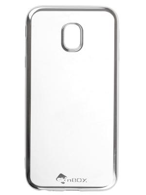 Samsung Galaxy J3 (2017) skinBOX silicone chrome border 4People. Цвет: серебристый