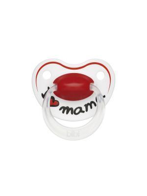 Пустышка Premium Dental силикон 6-16 мес. Happiness Mama Bibi.. Цвет: красный