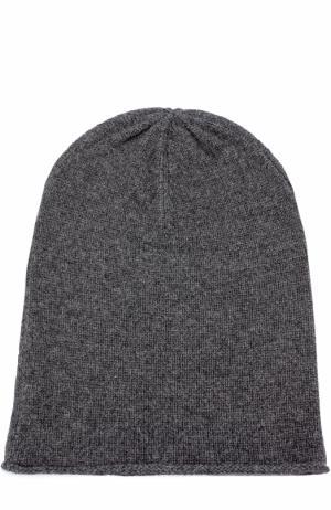 Кашемировая вязаная шапка Allude. Цвет: темно-серый